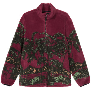 Stussy Hawaiian Jacquard Mock - Berry