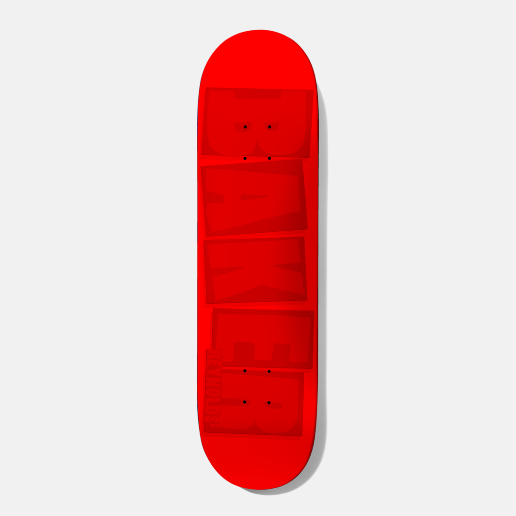 Baker Reynolds Brand Name Red Tonal Deck - 7.875