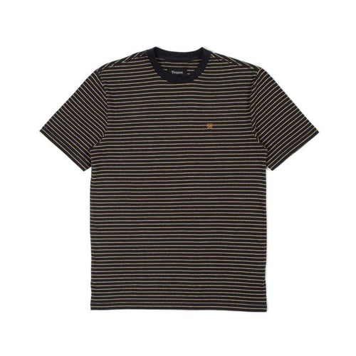 Brixton Hilt Tee - Black/Honey/Heather Grey