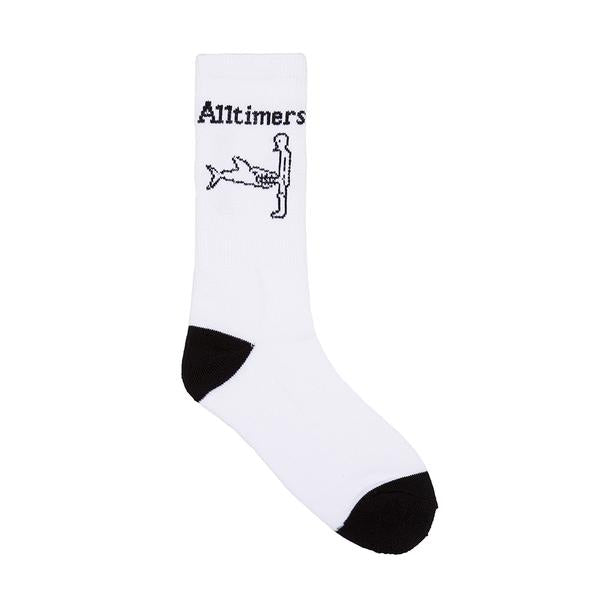 Alltimers Shark Dick Sock - White/Black