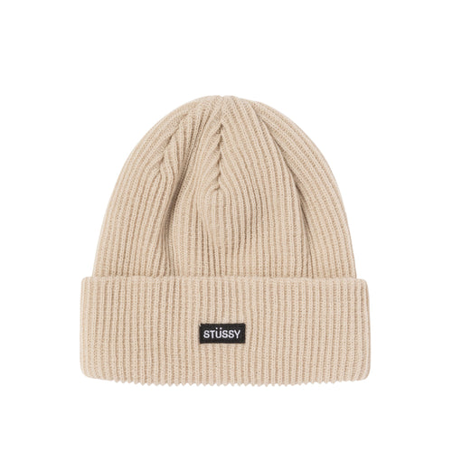 Stussy Small Patch Watch Cap Beanie - Sand