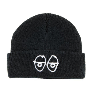 Krooked Stock Eyes Cuff Beanie - Black/White