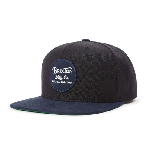 Brixton Wheeler Snapback - Black/Washed Navy