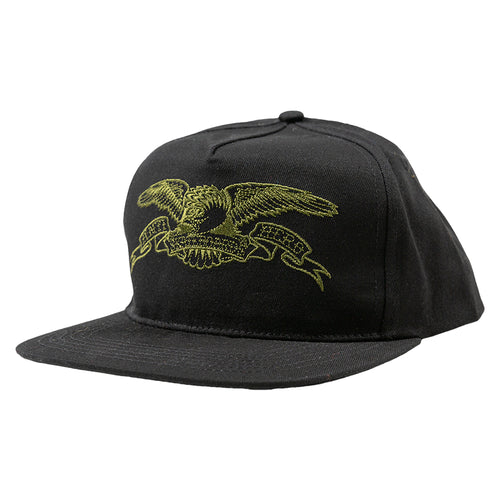 Antihero Basic Eagle Snapback - Black/ Olive