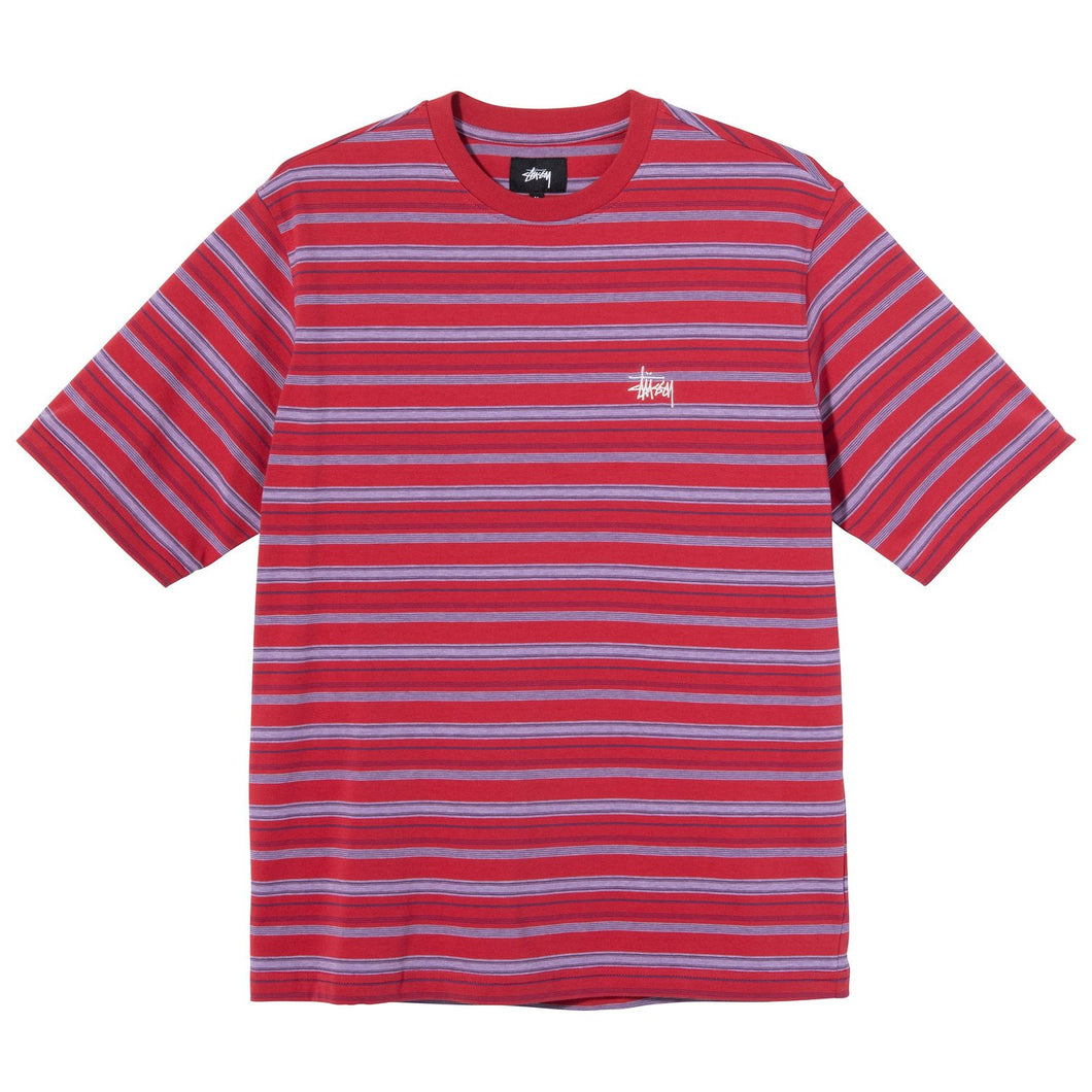 Stussy Heather Stripe Crew - Red