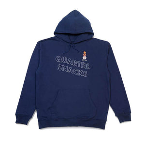 Quartersnacks Embroidered Snackman Hoody - Navy
