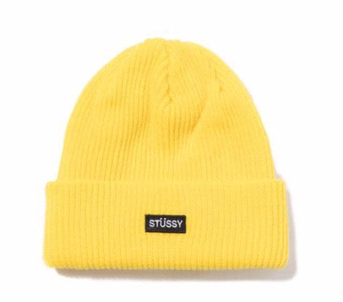 Stussy Small Patch Watch Cap - Yellow