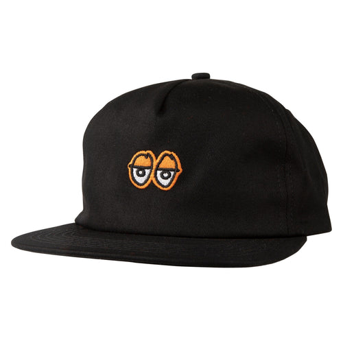 Krooked Eyes Snapback Hat - Black/Orange
