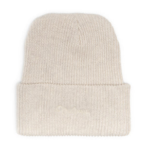 Ninetimes Script Embroidered Beanie - Natural