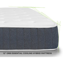 "Load image into Gallery viewer, Off-Road Bedding ORB 12"" Essential Cooling Hybrid Mattress"