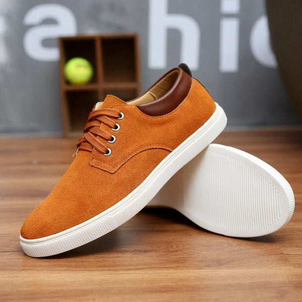 2019 new fashion suede casual flats Breathable Men Sneakers - kassouanet