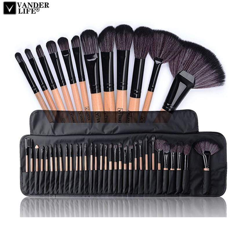 32pcs Professional Makeup Brushes Set Kassouanet
