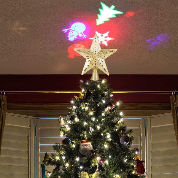 LED Projection Star Christmas Tree Topper Klicy