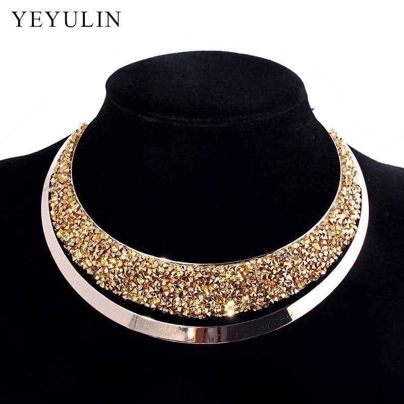 Luxury Full Crystal Choker Necklace - kassouanet