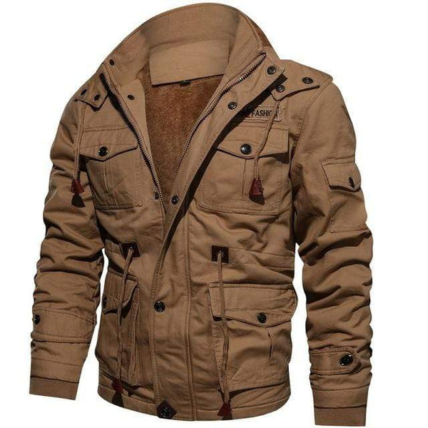 Military Mens Winter Jacket Khaki / M Kassouanet