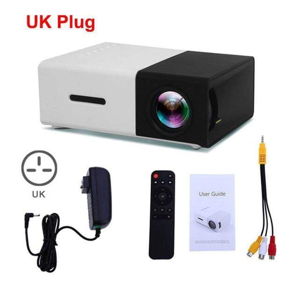 Portable Projector 1080p Black UK Plug Kassouanet