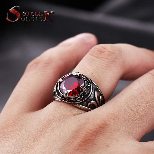 Titanium Steel Men Ring Kassouanet