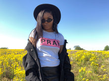"Load image into Gallery viewer, PINK ""PRAY"" TEE"