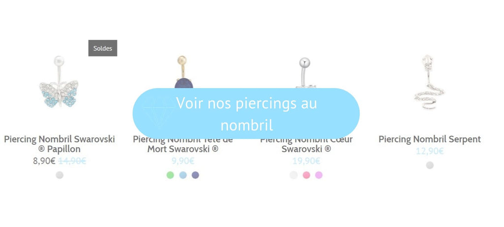 Voir nos piercings au nombril