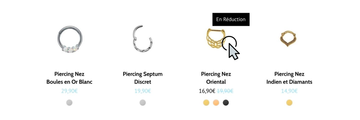 notre collection de piercing