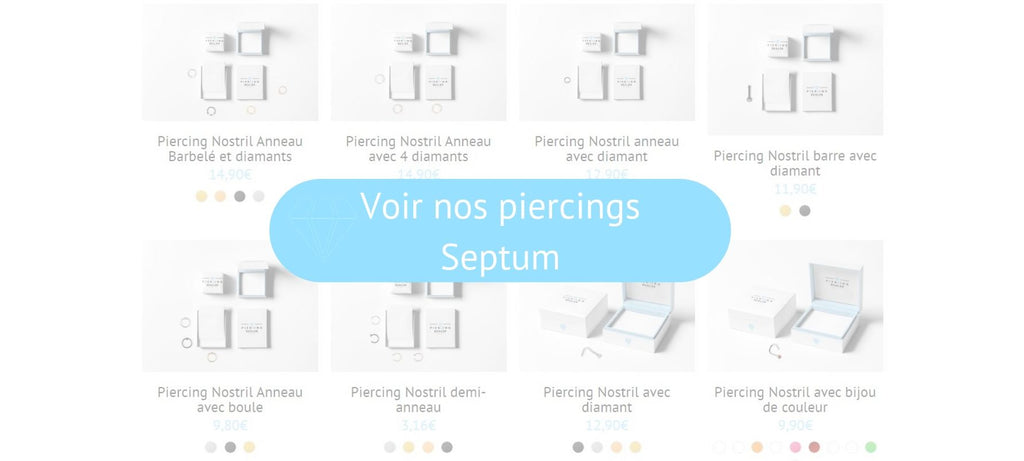 Voir nos piercings septum