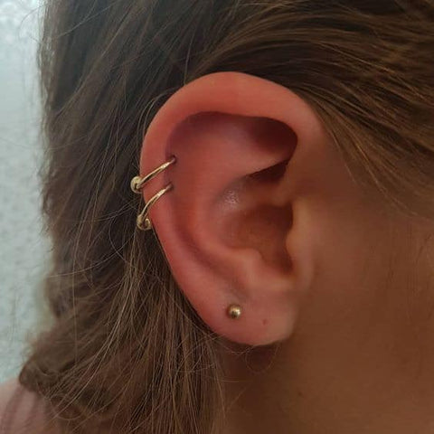 double piercing cartilage oreille