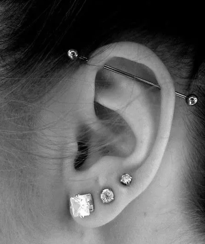 piercing industriel barre infection
