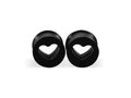 Piercing-Dealer Noir / 12mm / CHINA Ecarteur d'Oreille <br> Coeur