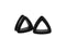 Piercing-Dealer Noir / 20mm / CHINE Ecarteur d'Oreille <br> Triangle