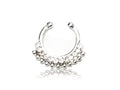 Piercing-Dealer Argent Faux Piercing Nez <br> Diamants Swarovski®
