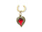 Faux Piercing Nombril <br> Coeur Rouge