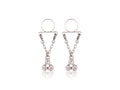 Piercing-Dealer Argent Faux Piercing Téton <br> 3 Diamants