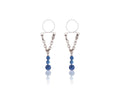 Piercing-Dealer Bleu Faux Piercing Téton <br> Diamants Bleus