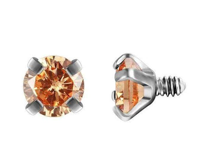 Piercingseo Orange / 10mm Piercing arcade avec diamants