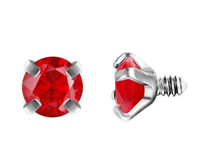 Piercingseo Rouge / 10mm Piercing arcade avec diamants