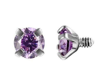 Piercingseo Violet / 10mm Piercing arcade avec diamants