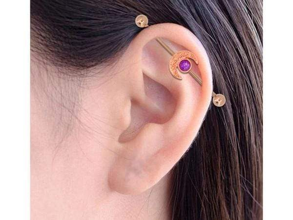 Piercing Industriel <br> Or Rose