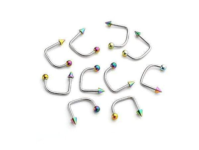 piercing-dealer Multicolore Piercing Labret Vertical Discret (Lot de 10)