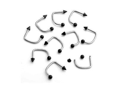 piercing-dealer Noir Piercing Labret Vertical Discret (Lot de 10)