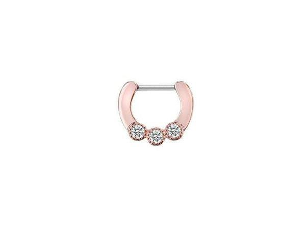 Piercing Nez <br> Rose et Diamants