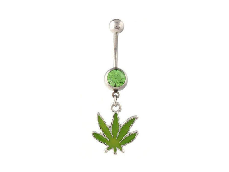 Piercing Nombril <br> Feuille de Cana