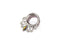 Piercing-Dealer Argent / 8mm Plug d'Oreille <br> Diamant