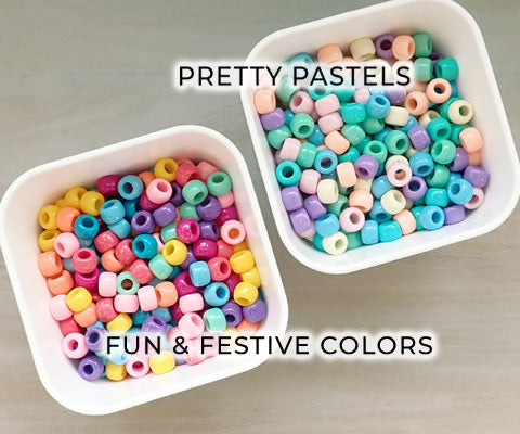 plastic pony bead in color combos