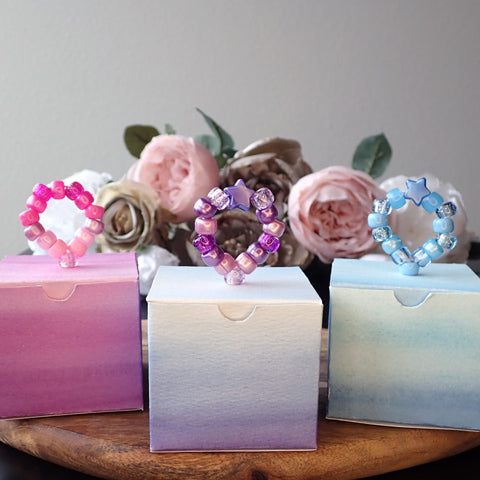 DIY Gift Boxes with Pony Bead Pull Tabs