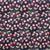 Cherries, Black, 100% Cotton Fabric, per yard
