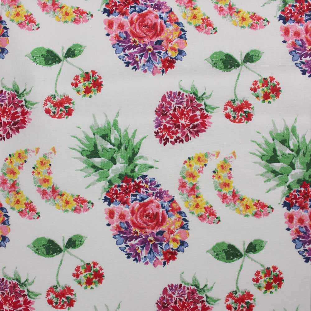 Floral Fruit Pattern, 100% Cotton Fabric, per yard