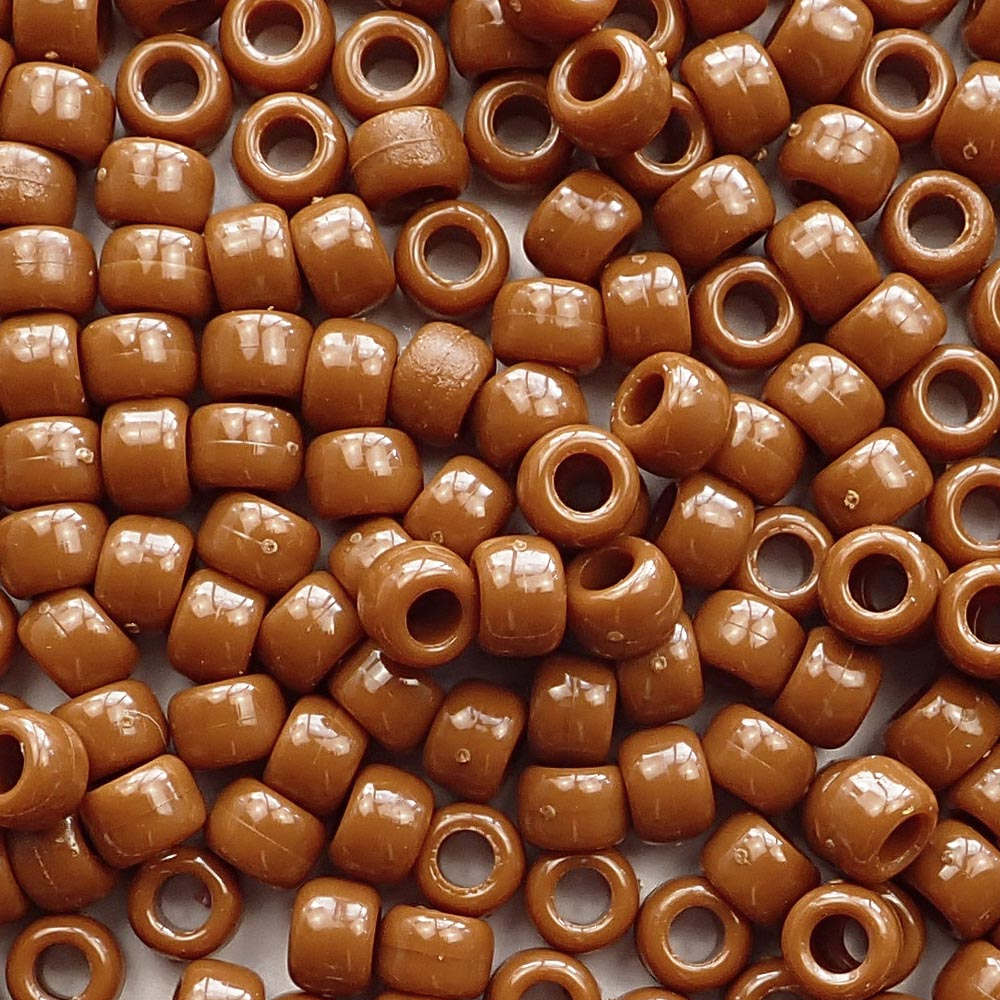 Medium Brown Pony Beads