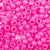 hot pink opaque 6 x 9mm plastic pony beads