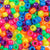 neon colors of 6 x 9mm plastic pony beads