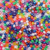 6 x 9mm Plastic Pony Beads in bright pearl colors